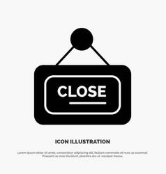 Marketing board sign close solid glyph icon vector