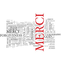 merci word cloud concept vector image