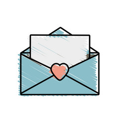 message mail romantic letter vector image