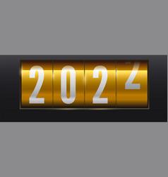 new 2022 year is coming yellow shining scoreboard vector image
