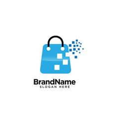 Online shop logo design inspiration vector