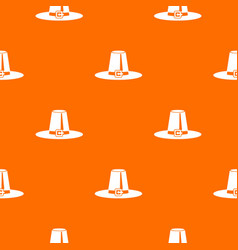 Pilgrim hat pattern seamless vector
