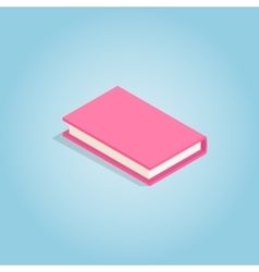 Pink book icon isometric 3d style vector
