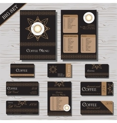 Restaurant cafe menu template set vector