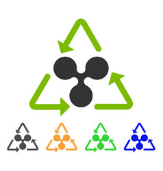 Ripple recycling icon vector