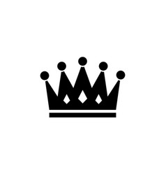 Royal crown flat icon vector