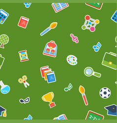 school green seamless pattern vector image