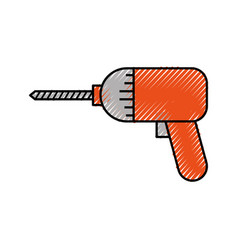 Screwdriver drill symbol of the assembly or repair vector