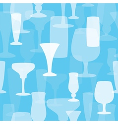 seamless drinks vector image