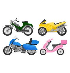 Set moto vehicles on a vector