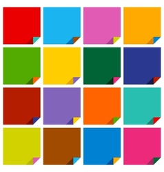 Set of 16 blank squares vector