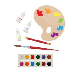 set of art supplies vector image