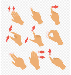set of gestures icons for vector image