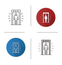 Signaling portal metal detector icon vector
