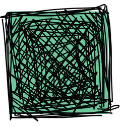 sketch of square vector image