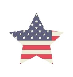 Star of usa flag design vector