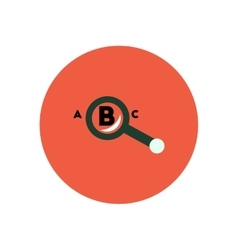 stylish icon in color circle magnifying glass vector image