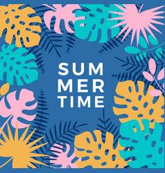 summer hawaiian tropical poster vector image
