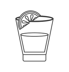 Tequila shot and lime icon vector