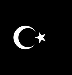turkey flag monochrome vector image