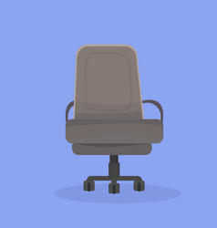 Twisting office chair on wheels vector