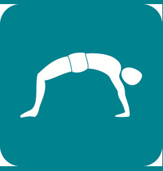 Upward bow pose vector