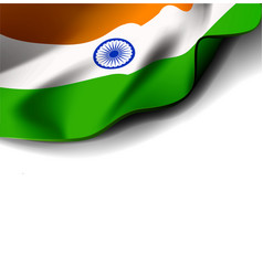 waving flag india on white vector image