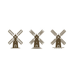 windmill logo or symbol agriculture bakery farm vector image