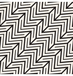 ZigZag Edgy Stripes Seamless Black and vector