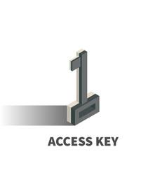 access key icon symbol vector image vector image