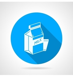 Contour icon for pasteurized milk vector image vector image