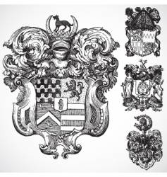 gothic coat of arms ornaments vector image vector image