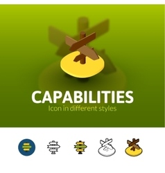 Capabilties icon in different style vector image