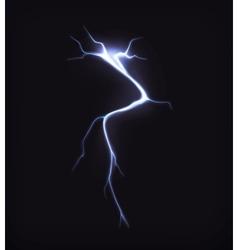 Lightning on black vector image vector image