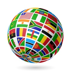 African flags globe vector image