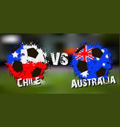 banner football match chile vs australia vector image vector image
