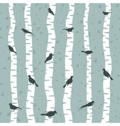 Bird on a birch vector