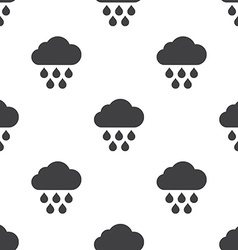 cloud rain seamless pattern vector image