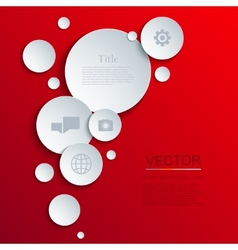 modern circle infographics background vector image