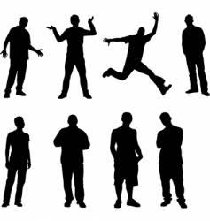 8 men vector image vector image