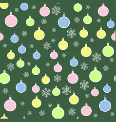 Christmas decoration seamless snowflake pattern vector