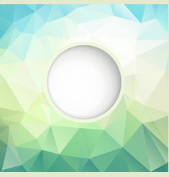 fresh polygonal background vector image
