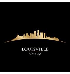 Louisville Kentucky city skyline silhouette vector image