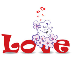 Love mouse vector image vector image