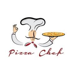 pizza chef cartoon vector image vector image