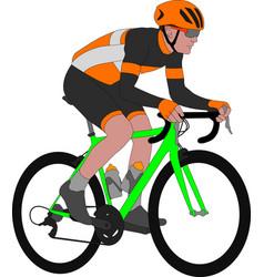racing bicyclist vector image