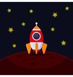 Space Rocket Landing on Mars vector image vector image