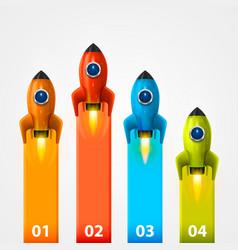 space rocket launch info vector image vector image