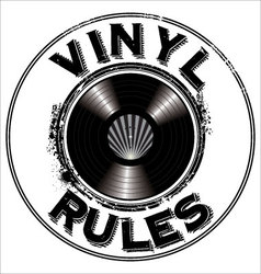 Vinyl rules background vector image vector image