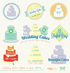 Wedding Cake Labels vector image vector image